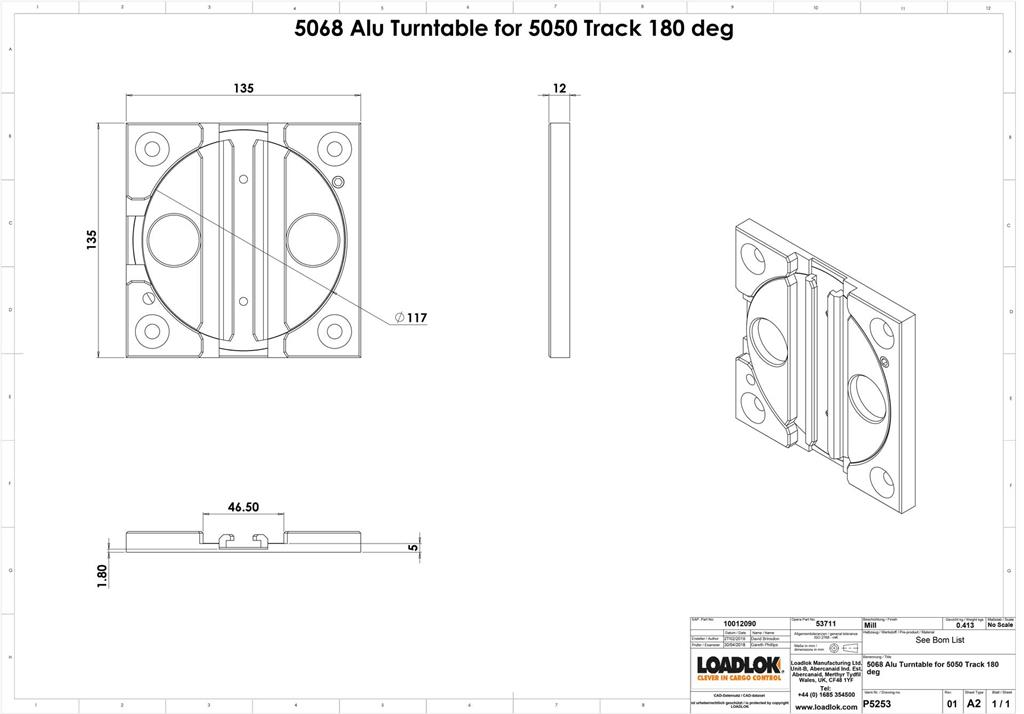 5068 Alu Turntable for 5050 Track