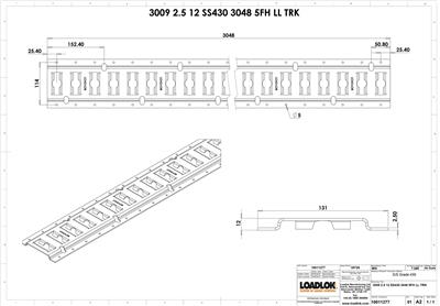 3009 2.5mm Stainless 430 Track 3048mm